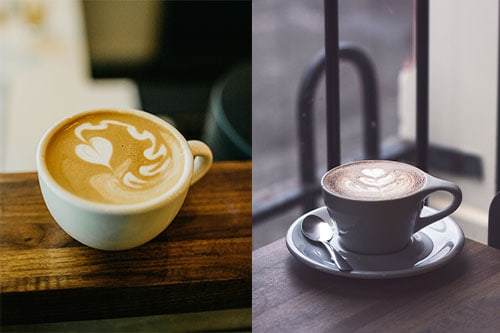 How are Cappuccinos different from Latte