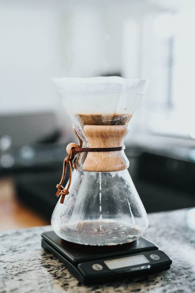 Coffee Scale with a Chemex