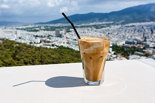 Iced Frappe in Greece