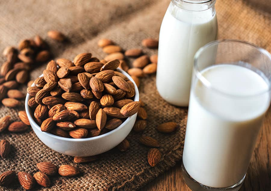 Almond Milk and Coffee