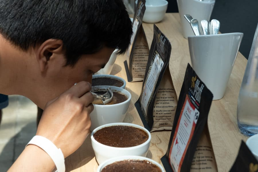 Breaking the Crust at a Coffee Cupping