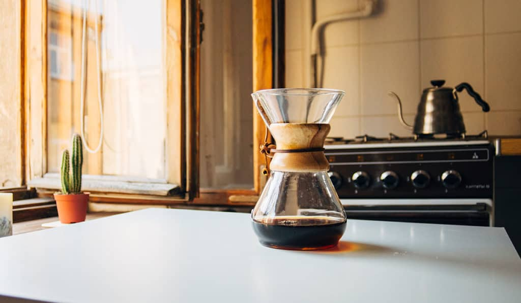 Pour Over Coffee and Food